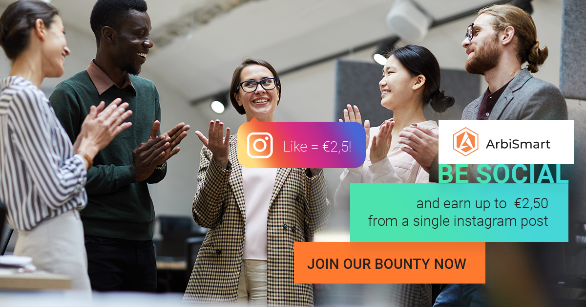 Be Social and earn up to €2,500