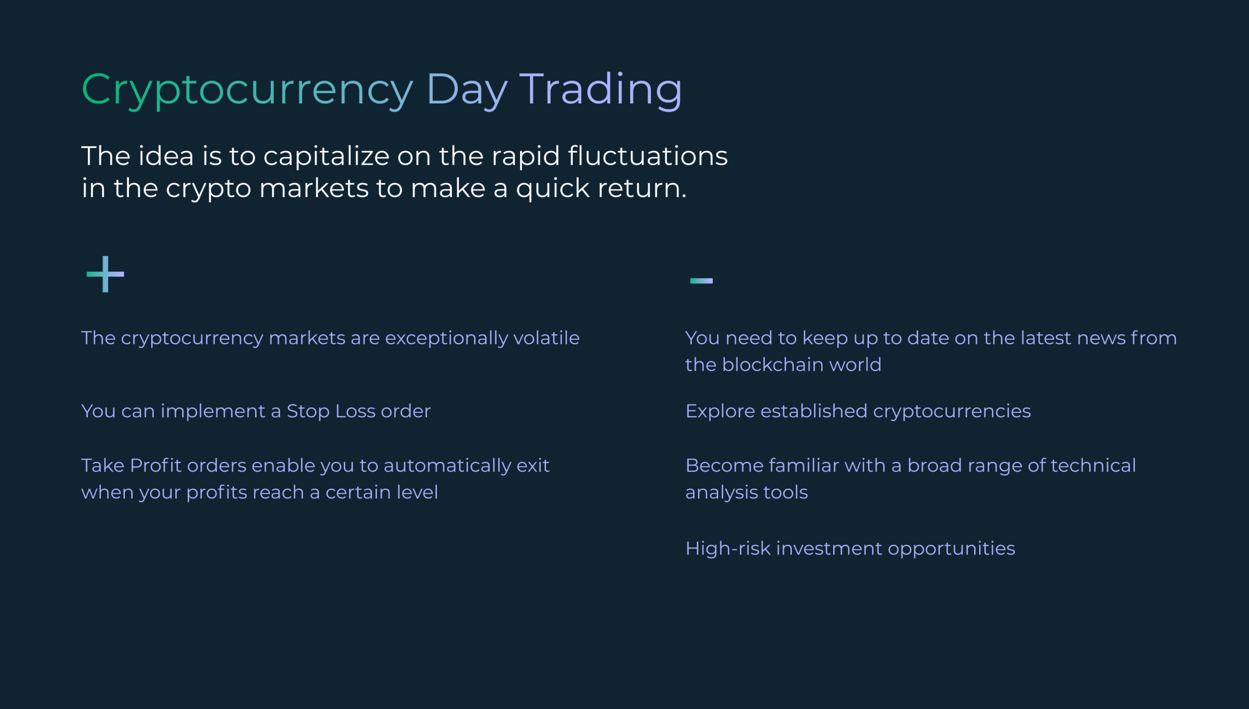 A Guide to Cryptocurrency Day Trading
